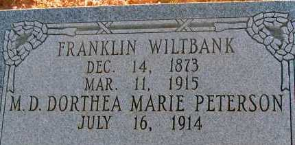 WILTBANK, FRANKLIN - Apache County, Arizona   FRANKLIN WILTBANK - Arizona Gravestone Photos