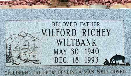 WILTBANK, MILFORD RICHEY - Apache County, Arizona | MILFORD RICHEY WILTBANK - Arizona Gravestone Photos