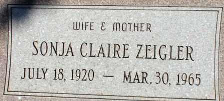 ANDERSON ZEIGLER, SONJA CLAIRE - Apache County, Arizona | SONJA CLAIRE ANDERSON ZEIGLER - Arizona Gravestone Photos