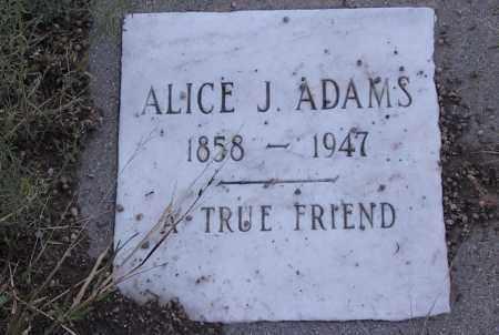 ADAMS, ALICE J. - Cochise County, Arizona   ALICE J. ADAMS - Arizona Gravestone Photos