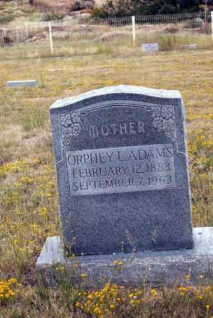 BURTON ADAMS, ORPHY L. - Cochise County, Arizona | ORPHY L. BURTON ADAMS - Arizona Gravestone Photos