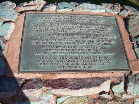 ALLEN, REX ELVIE - Cochise County, Arizona   REX ELVIE ALLEN - Arizona Gravestone Photos