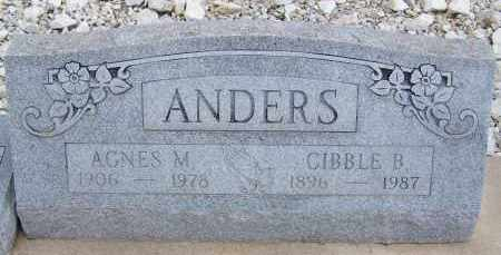 ANDERS, CIBBLE B. - Cochise County, Arizona | CIBBLE B. ANDERS - Arizona Gravestone Photos