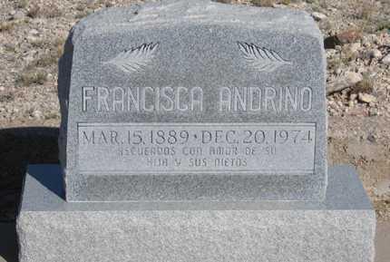 ANDRINO, FRANCISCA - Cochise County, Arizona | FRANCISCA ANDRINO - Arizona Gravestone Photos