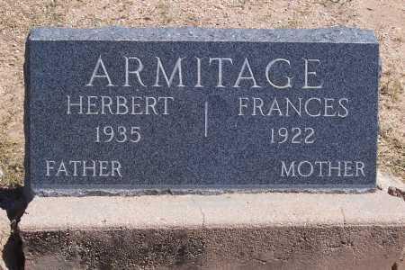 ARMITAGE, FRANCES - Cochise County, Arizona | FRANCES ARMITAGE - Arizona Gravestone Photos