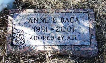 BACA, ANNE E - Cochise County, Arizona   ANNE E BACA - Arizona Gravestone Photos