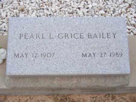 BAILEY, PEARL L - Cochise County, Arizona | PEARL L BAILEY - Arizona Gravestone Photos