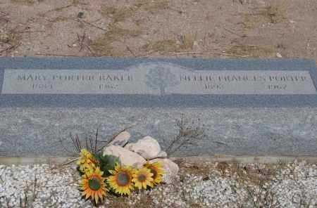 FRANCIS PORTER, MARY - Cochise County, Arizona | MARY FRANCIS PORTER - Arizona Gravestone Photos