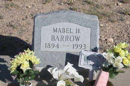 BARROW, MABEL H - Cochise County, Arizona | MABEL H BARROW - Arizona Gravestone Photos