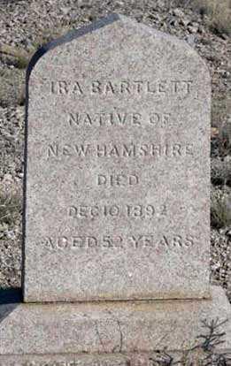 BARTLETT, IRA - Cochise County, Arizona   IRA BARTLETT - Arizona Gravestone Photos