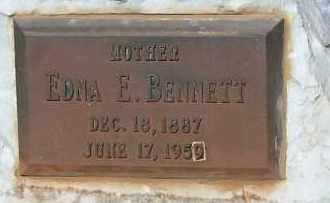 BENNETT, EDNA E. - Cochise County, Arizona | EDNA E. BENNETT - Arizona Gravestone Photos