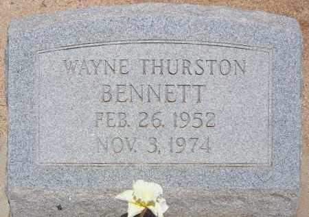 BENNETT, WAYNE THURSTON - Cochise County, Arizona | WAYNE THURSTON BENNETT - Arizona Gravestone Photos