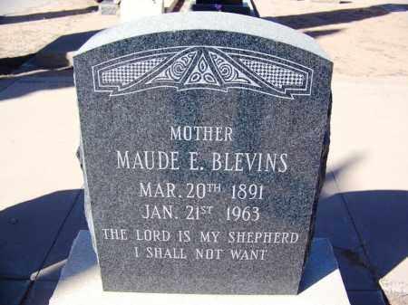 BLEVINS, MAUDE E - Cochise County, Arizona   MAUDE E BLEVINS - Arizona Gravestone Photos
