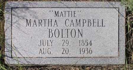 CAMPBELL BOLTON, MARTHA - Cochise County, Arizona | MARTHA CAMPBELL BOLTON - Arizona Gravestone Photos