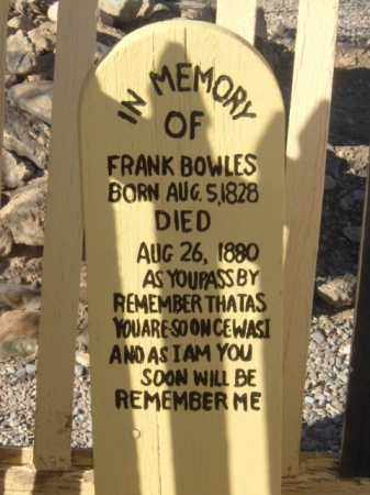 BOWLES, FRANK - Cochise County, Arizona | FRANK BOWLES - Arizona Gravestone Photos