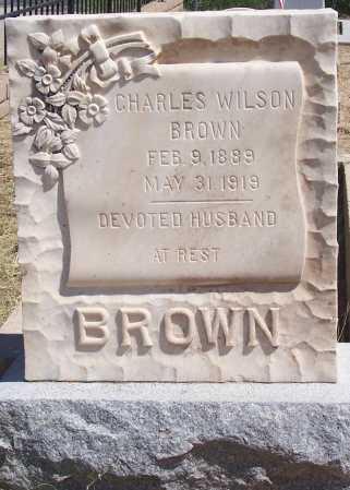 BROWN, CHARLES WILSON - Cochise County, Arizona | CHARLES WILSON BROWN - Arizona Gravestone Photos