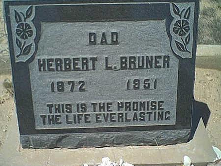BRUNER, HERBERT L - Cochise County, Arizona | HERBERT L BRUNER - Arizona Gravestone Photos