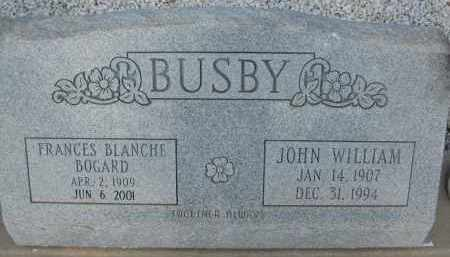 BUSBY, FRANCES BLANCHE - Cochise County, Arizona | FRANCES BLANCHE BUSBY - Arizona Gravestone Photos