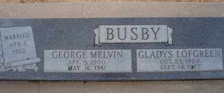 BUSBY, GEORGE MELVIN - Cochise County, Arizona | GEORGE MELVIN BUSBY - Arizona Gravestone Photos