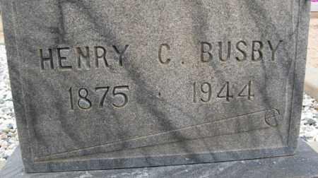 BUSBY, HENRY C. - Cochise County, Arizona | HENRY C. BUSBY - Arizona Gravestone Photos