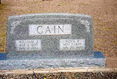 CAIN, NOVA - Cochise County, Arizona | NOVA CAIN - Arizona Gravestone Photos