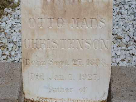 CHRISTENSON, OTTO MADS - Cochise County, Arizona   OTTO MADS CHRISTENSON - Arizona Gravestone Photos
