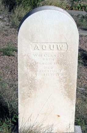 CLANCY, WM - Cochise County, Arizona | WM CLANCY - Arizona Gravestone Photos
