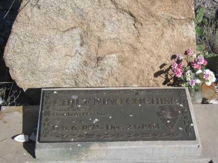COCHISE, CHIEF NINO - Cochise County, Arizona   CHIEF NINO COCHISE - Arizona Gravestone Photos
