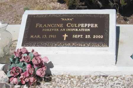 CULPEPPER, FRANCINE - Cochise County, Arizona | FRANCINE CULPEPPER - Arizona Gravestone Photos