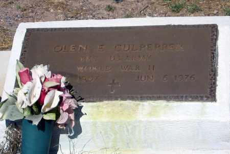 CULPEPPER, OLEN E - Cochise County, Arizona   OLEN E CULPEPPER - Arizona Gravestone Photos