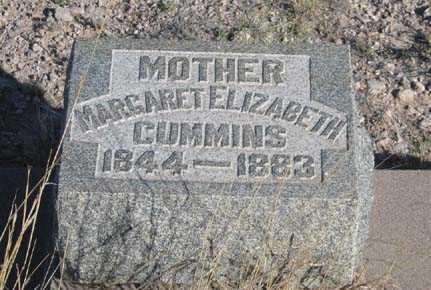 CUMMINS, MARGARET ELIZABETH - Cochise County, Arizona   MARGARET ELIZABETH CUMMINS - Arizona Gravestone Photos