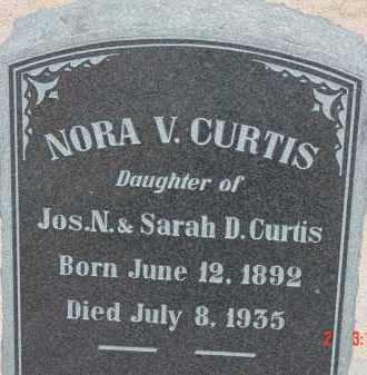 CURTIS, NORA V. - Cochise County, Arizona | NORA V. CURTIS - Arizona Gravestone Photos