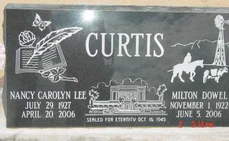 CURTIS, MILTON DOWEL - Cochise County, Arizona | MILTON DOWEL CURTIS - Arizona Gravestone Photos