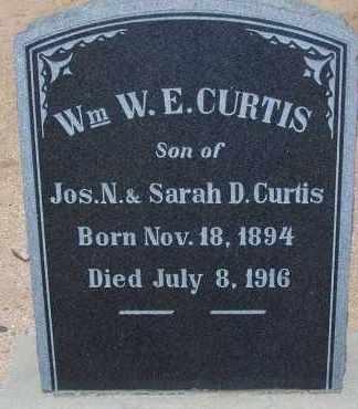 CURTIS, WM W. E. - Cochise County, Arizona   WM W. E. CURTIS - Arizona Gravestone Photos