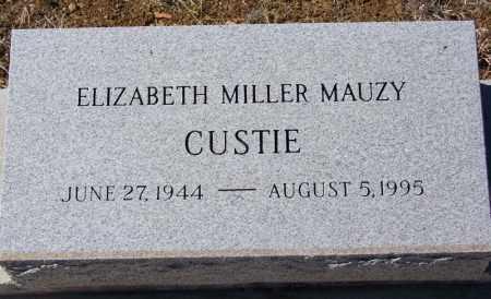 MAUZY CUSTIE, ELIZABETH MILLER - Cochise County, Arizona | ELIZABETH MILLER MAUZY CUSTIE - Arizona Gravestone Photos