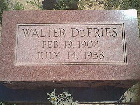 DEFRIES, WALTER - Cochise County, Arizona   WALTER DEFRIES - Arizona Gravestone Photos