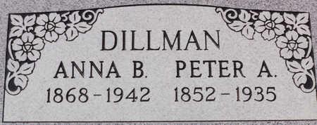 DILLMAN, ANNA B - Cochise County, Arizona   ANNA B DILLMAN - Arizona Gravestone Photos