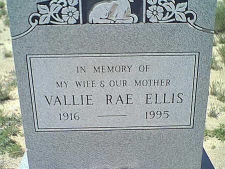 ELLIS, VALLIE RAE - Cochise County, Arizona   VALLIE RAE ELLIS - Arizona Gravestone Photos