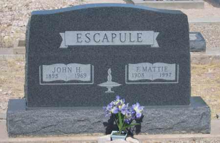 ESCAPULE, JOHN H. - Cochise County, Arizona | JOHN H. ESCAPULE - Arizona Gravestone Photos