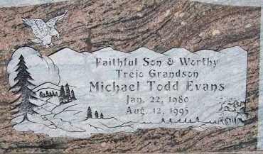 EVANS, MICHAEL TODD - Cochise County, Arizona | MICHAEL TODD EVANS - Arizona Gravestone Photos