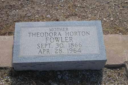 FOWLER, THEODORA - Cochise County, Arizona | THEODORA FOWLER - Arizona Gravestone Photos