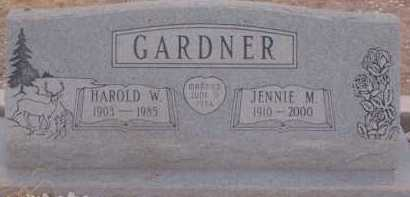 GARDNER, JENNIE M. - Cochise County, Arizona | JENNIE M. GARDNER - Arizona Gravestone Photos