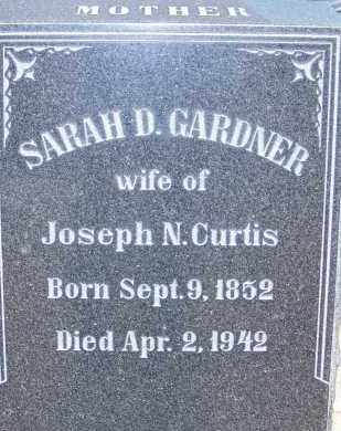 GARDNER, SARAH D. - Cochise County, Arizona | SARAH D. GARDNER - Arizona Gravestone Photos