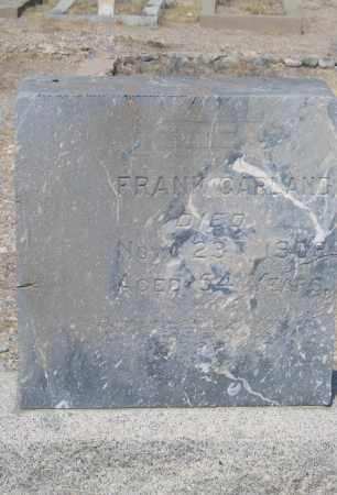 GARLAND, FRANK - Cochise County, Arizona | FRANK GARLAND - Arizona Gravestone Photos