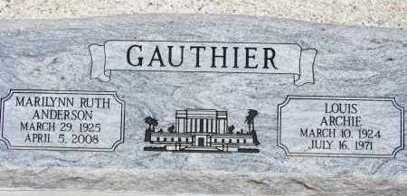 ANDERSON GAUTHIER, MARILYNN RUTH - Cochise County, Arizona | MARILYNN RUTH ANDERSON GAUTHIER - Arizona Gravestone Photos