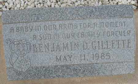 GILLETTE, BENJAMIN D. - Cochise County, Arizona | BENJAMIN D. GILLETTE - Arizona Gravestone Photos