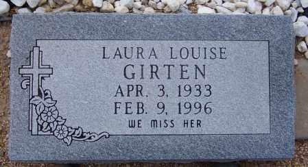 GIRTEN, LAURA LOUISE - Cochise County, Arizona | LAURA LOUISE GIRTEN - Arizona Gravestone Photos