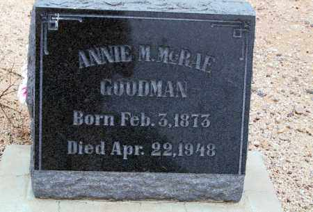 GOODMAN, ANNIE M. - Cochise County, Arizona | ANNIE M. GOODMAN - Arizona Gravestone Photos