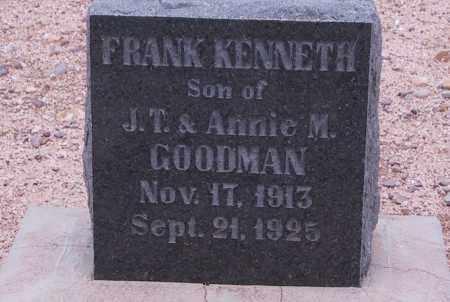 GOODMAN, FRANK - Cochise County, Arizona | FRANK GOODMAN - Arizona Gravestone Photos