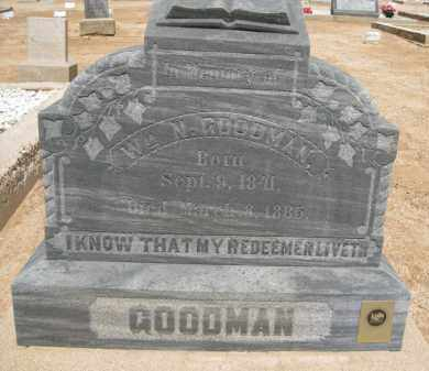 GOODMAN, WM. N. - Cochise County, Arizona | WM. N. GOODMAN - Arizona Gravestone Photos
